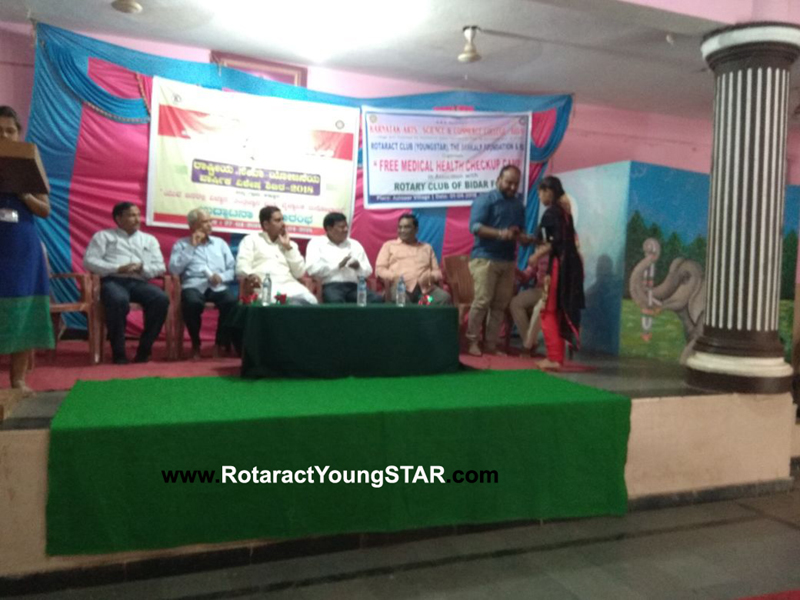 General Medical Camp at at astoor village by YoungSTAR Rotaract Club  bidar